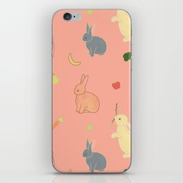 bunny rabbit banana fruit iPhone Skin
