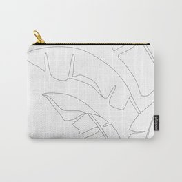 Minimal Line Art Banana Leaves Carry-All Pouch