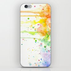 Watercolor Rainbow iPhone & iPod Skin