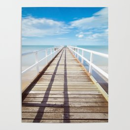 Boardwalk on the Beach Poster