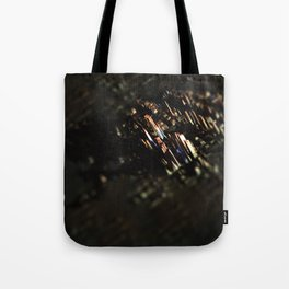 Abstract cityscape aerial view technology background Tote Bag