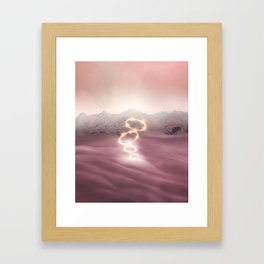 2077 landscape V Framed Art Print