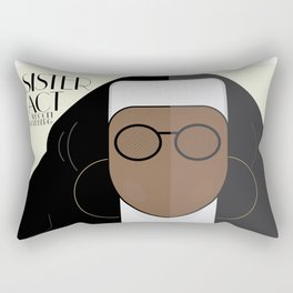 Sister Act, minimal Movie Poster, classic comedy film, funny, Whoopi Golberg, american cinema Rectangular Pillow
