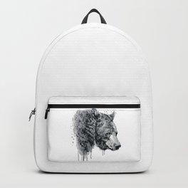 Bear Head Black and White Backpack