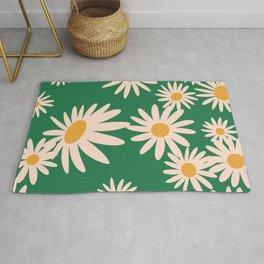 Retro Daisy pattern  Rug