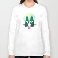 socks Long Sleeve T-shirts featuring Summer Socks by Abby Rampling
