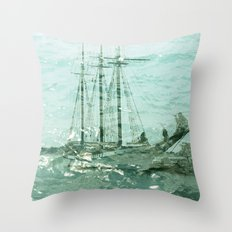 so we beat on, boats against the current... Throw Pillow