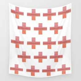 Paint Peeling Like Mars Cross Gradient Wall Tapestry