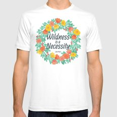 Floral Wildness MEDIUM Mens Fitted Tee White