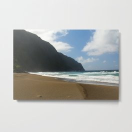 Empty Beach of Kalaupapa Metal Print