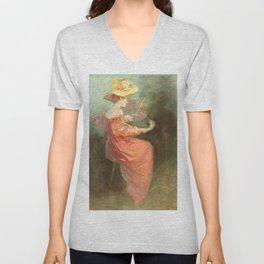 Vintage poster - La Peinture Unisex V-Neck