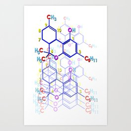 """THC: ENHANCE & TRANSMIT"" Art Print"