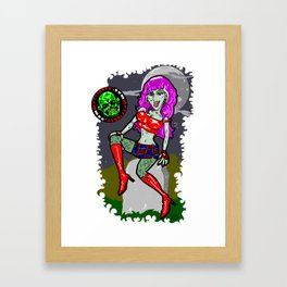 Jamie is one hot gal... For a ZOMBIE!  Sexy & SCARY!  The Mistress of Modern Horror ala Mr. Frights Framed Art Print