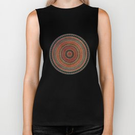 Earth Tone Colored Mandala Biker Tank