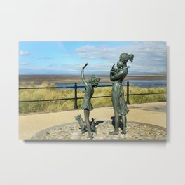 Welcome Home Statue by Anita Lafford on the promenade at Fleetwood - England Metal Print
