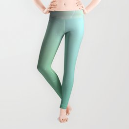 Under the Sea - Light Green Ombre Leggings