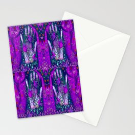 Peace and Love In our soft gentle hands Stationery Cards