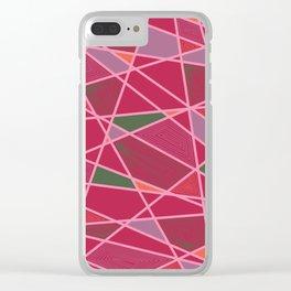 Underscore Pattern Clear iPhone Case