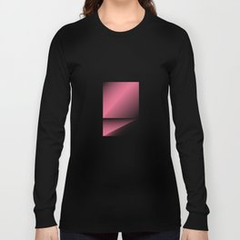 pink color energy fold Long Sleeve T-shirt