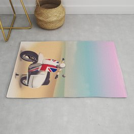 Union Jack Scooter Travel poster, Rug