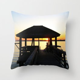 Norwalk, Sheffield Island, Sunset, Connecticut Throw Pillow