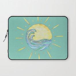 Sun Wave Aqua  Laptop Sleeve