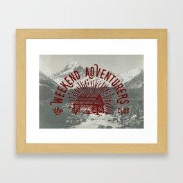 Weekend Adventurers Club Framed Art Print