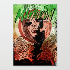Mastodon Live in Berlin in Green and Red Canvas Print