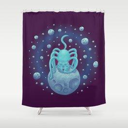 Spider Cat Shower Curtain