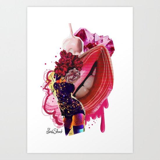 Worship the romance Art Print