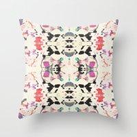 rorschach Throw Pillows featuring Rorschach by Zephyr
