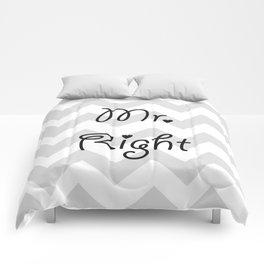 Mr. Right Comforters