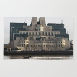 SIS Secret Service Building London And Rib Boat Rug