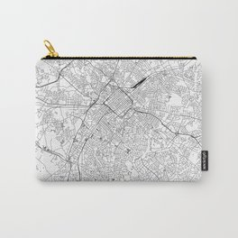 Charlotte White Map Carry-All Pouch