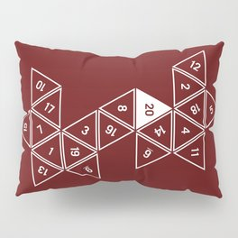 Red Unrolled D20 Pillow Sham