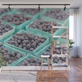 Blueberries on Saturday Morning Wall Mural