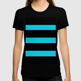Hollywood Nights Black and Teal Stripes T-shirt
