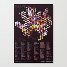 Bloom: Dark with legend Canvas Print