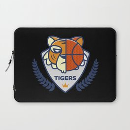 Basketball Tiger team, distressed effect for basketball fans. Laptop Sleeve