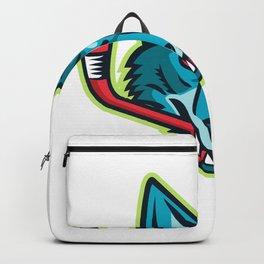 Coyote Ice Hockey Sports Mascot Backpack