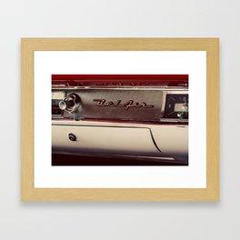 Classic Car Photography Chevy Belair Logo Framed Art Print