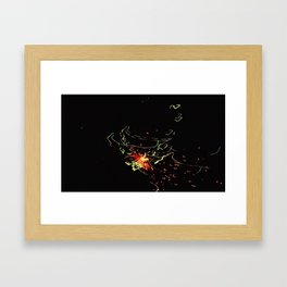 Bright Night Lights 7 Framed Art Print