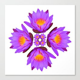 Purple Lily Flower - On White Canvas Print