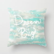 Dream Big (Turquoise) Throw Pillow