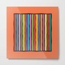 dp203-2 Colorful Stripes Metal Print