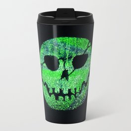 Glow Skull green Travel Mug