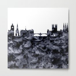 Edinburgh Skyline Scotland Metal Print