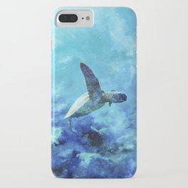 Sea Turtle Into The Deep Blue iPhone Case