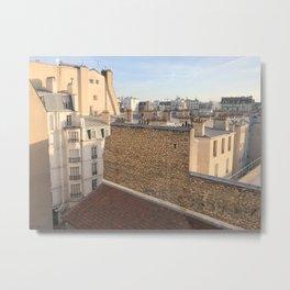 the roofs of Paris Metal Print