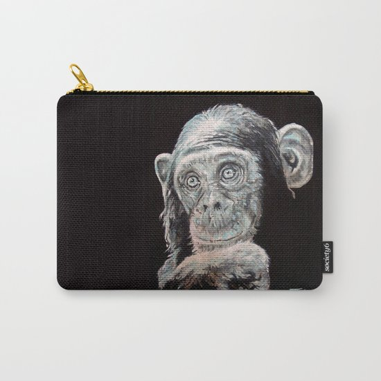 a Jane Goodall quote - black Carry-All Pouch